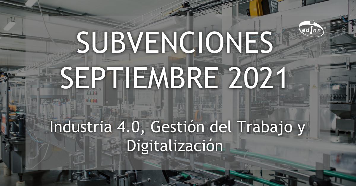 subvenciones septiembre 2021